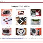 Freezing fruit and veg